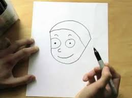 how to draw a boy using the word