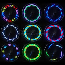 bicycle motorcycle spoke led light 14 leds 30 patterns 8 colors wl03