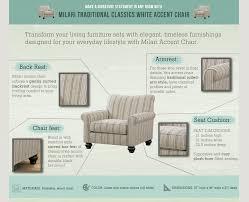 milari linen chair furniture milari white accent chair the home