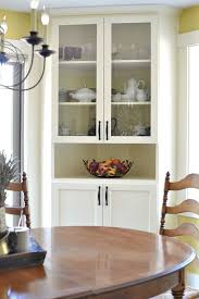 corner china cabinets dining room salle à manger built in corner china cabinet in dining room