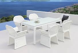incredible white wicker outdoor dining sets white mesh chair white