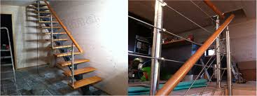 Interior Cable Railing Kit Cable Stair Railing Cost See Also Stair Steel Post Cable Railing