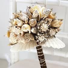 Seashell Bouquet Seashell Wedding Bouquets Bridesmaid Trade Blog