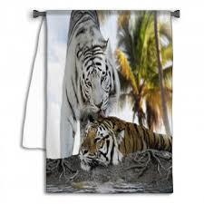 White Tiger Shower Curtain Tiger Shower Curtains Bath Decor Bath Mats Towels