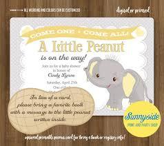 peanut baby shower peanut baby shower invitation printable elephant gray
