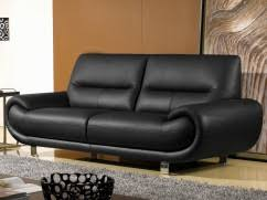 canapé cuir noir canapé cuir pas cher chez la maison du canapé