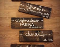 wedding gift name sign custom wood signs couples sign personalized name sign