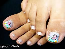 uñas con mariposas y flores pies uñas nailart nail art
