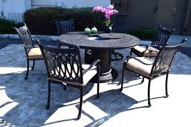 Cast Aluminum Patio Tables Propane Pit Table Grill Set Cast Aluminum Patio Furniture