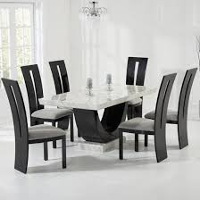 Marble Dining Room Table And Chairs White Marble Dining Table Dining Room Cintascorner Rustic White