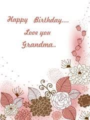 free printable birthday grandma cards create and print free