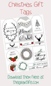 free printable christmas gift tags the grant life