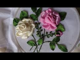 silk ribbon roses 652 best ribbon embroidery images on silk ribbon