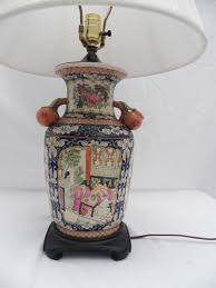Antique Hand Painted Vases Chinese Porcelain Hand Painted Vase Converted Into Table Lamp