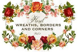 Rose Flower Design Last Chance Mega Bundle Of Gorgeous Flower Graphics Only 25