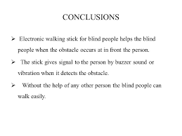 Blind People Stick Electronic Stick For Blind People Ppt Video Online Download