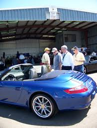 Porsche Boxster Navy Blue - winning with wines at napa jet preview airport journals