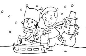 winter sled happy sledding free winter coloring pages coloring