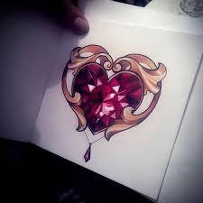 Locket Tattoo Ideas Best 25 Diamond Heart Tattoos Ideas On Pinterest Cool Couple