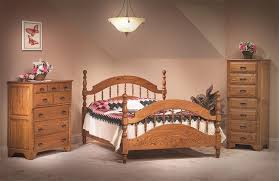 Hardwood Bedroom Furniture Sets by Amish White Oak Bedroom Suite