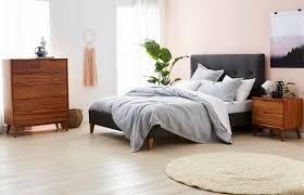 vista upholstered bed frame charcoal bedroom furniture forty winks
