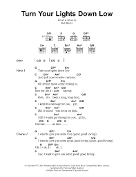 lights down low guitar chords turn your lights down low by bob marley guitar chords lyrics