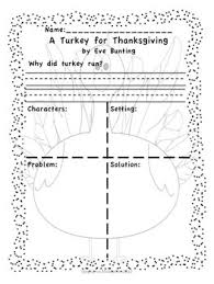 all worksheets a turkey for thanksgiving by bunting