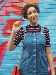 how to wear a denim pinafore dress charlie distracted