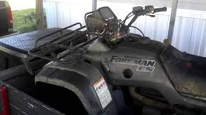 2001 honda foreman 450es rebuild youtube