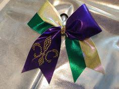 mardi gras bow football breast cancer cheer bow by guyandayprogrambows on etsy