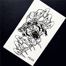 cool arm temporary fierce roaring tiger paw
