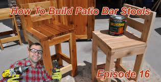 Wooden Bar Stool Plans Free by How To Make Simple Bar Stools 2x4 Bar Stool Youtube