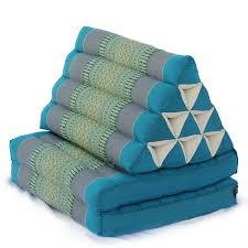 triangle pillow two fold thai classic aqua