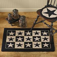 Barn Star Kitchen Decor by Endearing Primitive Kitchen Rugs Barn Star Primitive Area Rug