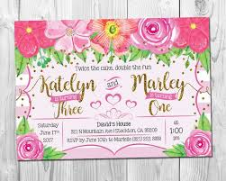 7 best birthday invitations images on pinterest etsy floral and