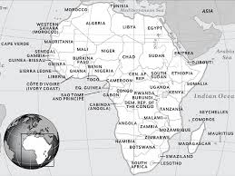 africa map black and white africa national geographic society