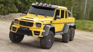 mercedes g class 6x6 mansory makes the mercedes benz g63 amg 6x6 even more opulent