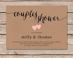 couples wedding shower invitations greenery couples shower rustic couples shower invite