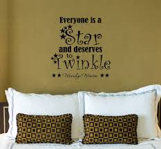 stylish marilyn monroe quote decal everyone is a star and deserves decoration stylish marilyn monroe quote decal everyone is a star and deserves to twinkle removable wall