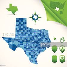 Tx Counties Map Texas County Map Vector Art Getty Images