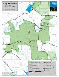 Boston Lot Lake Trail Map by Gap Mountain Reservation Forest Society
