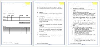 standard operating procedure sop templates for word