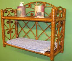 Wicker Bathroom Shelf Wicker Bathroom Furniture