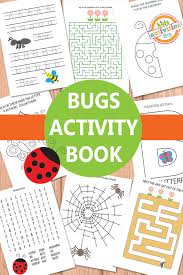 bugs activity sheets free kids printable bug activities