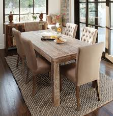 rug dining room wicker rattan rug combined with reclaimed wood table for classy