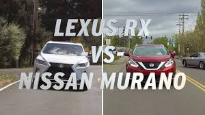 lexus rx330 vs honda cr v lexus rx vs nissan murano autonation youtube