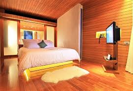 Wood Walls In Bedroom Wood Clad Walls Modern Bedroom Design Interior Design Ideas