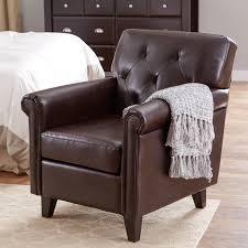Leather Club Chair Decor Wood And Leather Club Chair In Brown For Home Furniture Ideas
