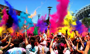 the swisse color run in sydney powdered paint dance party paint