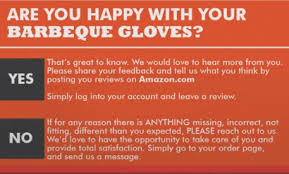 is this type of review request allowable on product insert cards